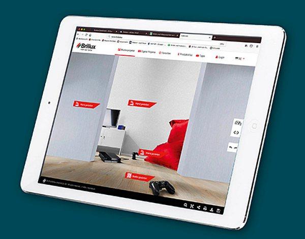 Brillux Tapeten Auswahl online virtuell