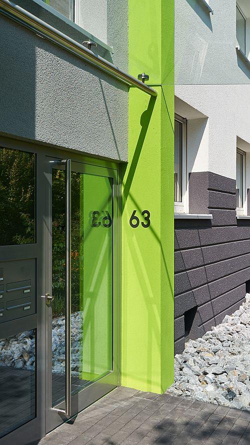Fassade Farbkomination Essen Huttrop