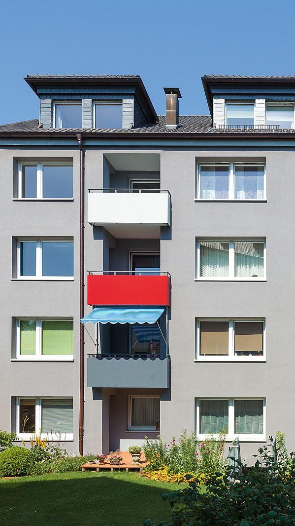 Fassade Sanierung Anstrich Balkon Rüttenscheid