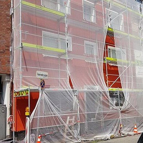 Gerüstbau für Fassadendämmung