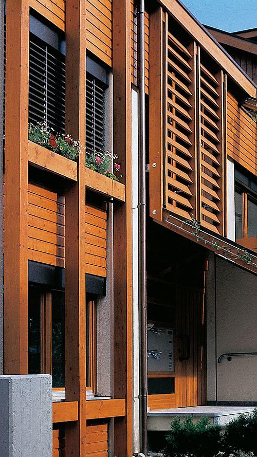Holzfassade Anstrich Lasur Holzschutz