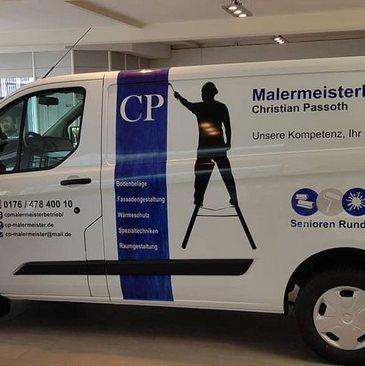 Firmenfahrzeug Lieferwagen Malermeister Passoth