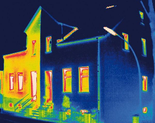 WDVS Wärmedämmverbundsystem Wärmebildkamera